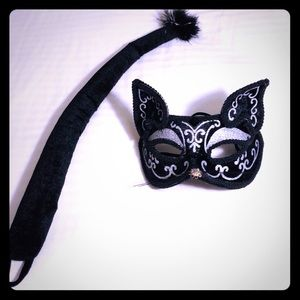 🎃 Halloween Sexy Cat Mask with Tail 🐱